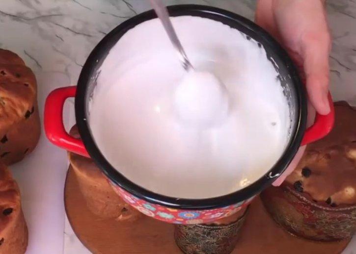 Сахарная глазурь для куличей